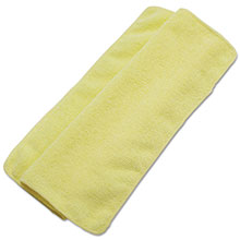 "Lightweight Microfiber Cleaning Cloths - (24) 16"" x 16"" BWK16YELCLOTH"