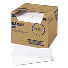 "WypAll X70 Antimicrobial Wipers - 12.5"" x 23.5"" - 300 Towels KCC05925"