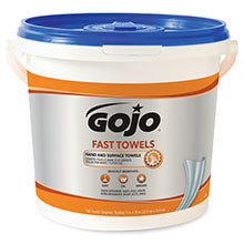 GOJO FAST WIPES Hand Cleaning Towels - 130-Count Bucket