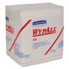 Kimberly Clark WypAll® X70 Manufactured Quarterfold Rags KCC41200