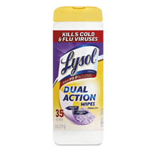 Dual Action Disinfecting Wipes, 7 x 8, 35/Canister