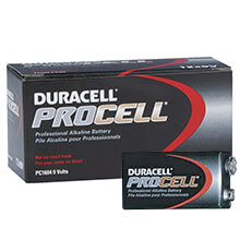 "Duracell PROCELL [PC1604] Alkaline Batteries - 12 Pack - Size ""9V"""