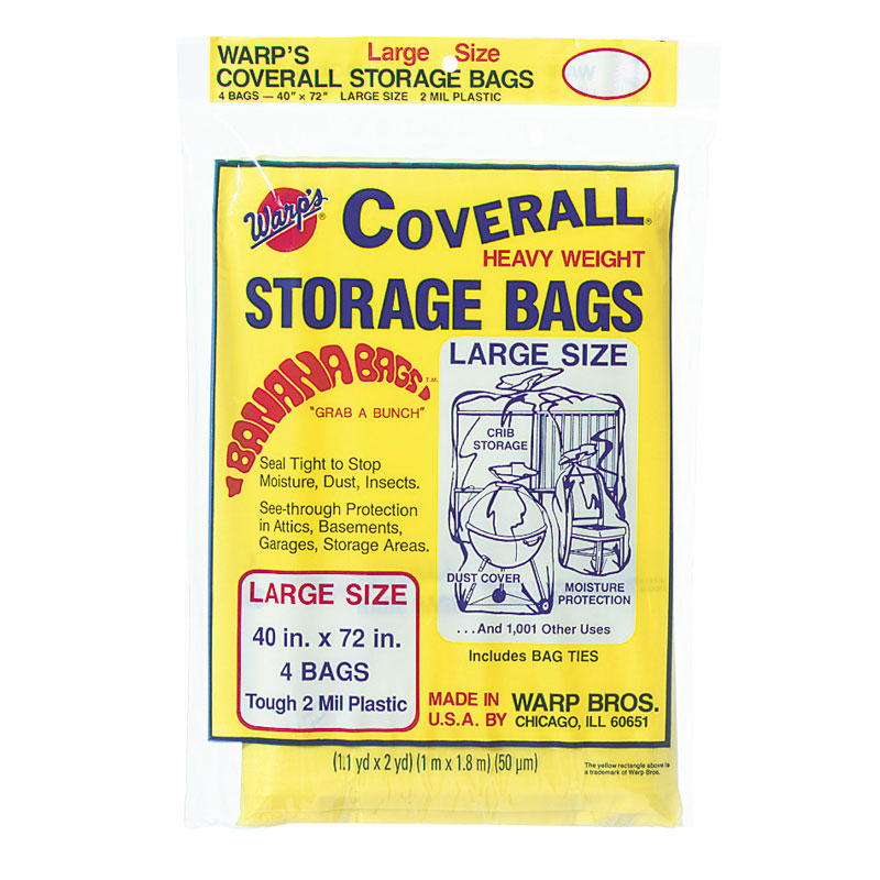 Banana Bags Coverall Heavyweight Plastic Storage Bag  sc 1 st  UnoClean & Warp Bros. Coverall Heavyweight Plastic Storage Bag - UnoClean