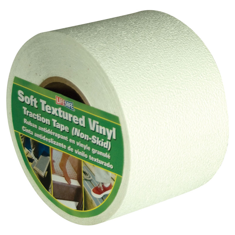 4 Quot X 60 Lifesafe Soft Textured Vinyl Nonskid Tape White
