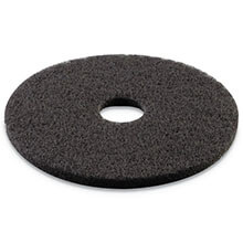"Premiere Pads Floor Machine Stripping Pad - Black - (5) 17"" Dia. Pads"