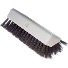 "Sparta Hi-Lo Brown Floor Scrub Brush - 10"" Wide"