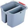 Rubbermaid [2617 GRA] Steel Sponge/Mop Double Pail - 17 qt.