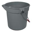 Rubbermaid [2963 GRA] BRUTE® Round Bucket - Gray - 10 qt.