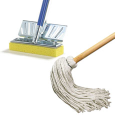 Sponge, Deck and Swiffer Mops & Pads
