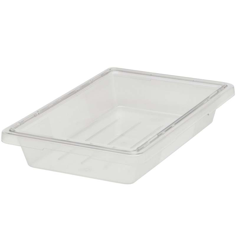 5 Gallon Food/Tote Boxes, 18w x 12d x 9h, Clear RCP3304CLE