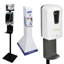 Hand Sanitizers - Dispensers - Stands