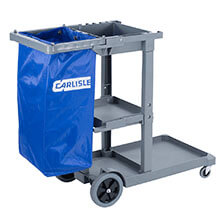 Short Platform Janitorial Cart - Gray