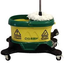 CycloMop Spin Mop w/ Dolly CM500D-GRN