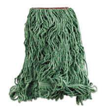 Super Stitch Blend Mop Heads, Cotton/Synthetic - Green - Large RCPD213GRE