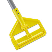 "Rubbermaid [H146] Invader Fiberglass Side-Gate Wet-Mop Handle, 60"", Gray/Yellow RCPH146"