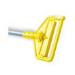 "Rubbermaid [H136] Invader® Side Gate Wet Mop Handle - Plastic Yellow Head - 60"" Vinyl-Coated Aluminum Handle"