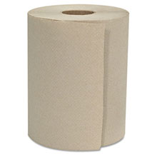 "8"" x 800 ft. Natural Hardwound Roll Towels, 1-Ply - 6 Rolls GEN8X800HWTKF"