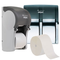 Coreless Roll Tissue & Dispensers