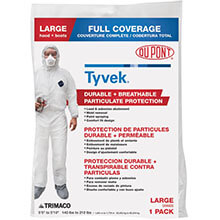 Painter's Disposable Poly Coveralls - Medium