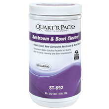 Stearns Quart'r Packs Restroom & Bowl Cleaner - (4) 80 x 3.5 g Containers