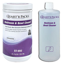 Stearns Quart'r Packs Restroom & Bowl Cleaner w/ Bottle
