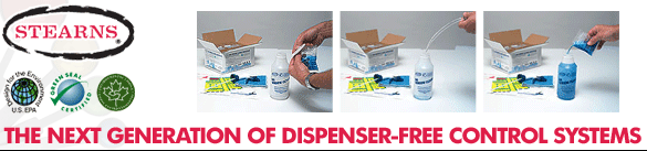 Stearns One Pack™ Dispenser-Free Control Systems