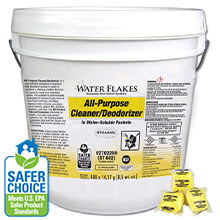 Stearns Water Flakes® ST-802 All-Purpose Cleaner & Deodorizer - (1) 400 x 0.5 wt. oz. Tub