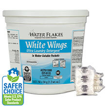 Stearns Water Flakes White Wings Ultra Laundry Detergent - (1) 250 x 1.2 wt. oz. Tub