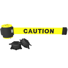 Caution Magnetic Wall Mount Banner - 30' Retractable Belt
