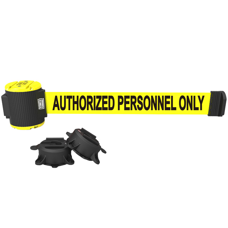 Authorized Personnel Only Magnetic Wall Mount Banner - 30' Retractable Belt