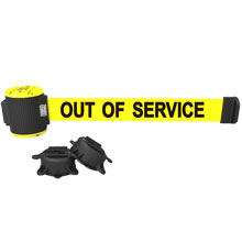 Out of Service Magnetic Wall Mount Banner - 30' Retractable Belt