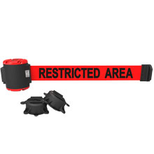 Restricted Area Magnetic Wall Mount Banner - 30' Retractable Belt