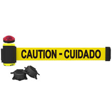 Caution - Cuidado Magnetic Safety Banner w/ Light Kit