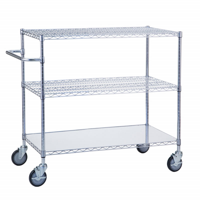 R&B Wire Portable & Adjustable Metal Wire Utility Cart