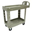 Rubbermaid [4500-88] Heavy-Duty Lipped Shelf Utility Cart - 2 Shelves - Beige
