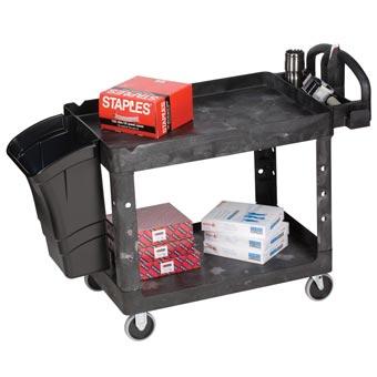 Rubbermaid 4520 88 Heavy Duty Lipped Shelf Utility Cart