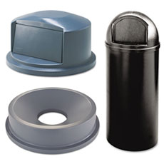 Dome Style Receptacles & Tops
