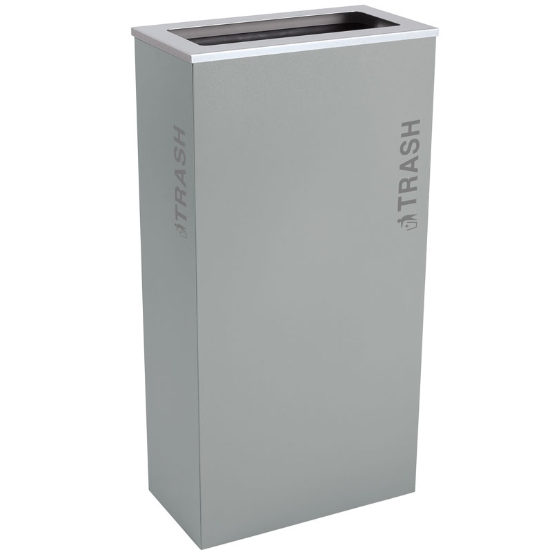 17 Gallon Trash Receptacle - Hammered Grey EXC-RC-KD17-T-BT-HMG