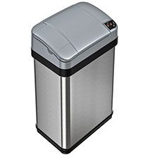 4 Gal. Automatic Trash Can - Stainless Steel HLS04SS