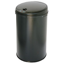 8 Gal. Round Automatic Trash Can - Black Powder Coat HLS08RB