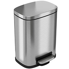 Step-On Trash Can w/ Plastic Inner Bin - 1.5 Gallon HLSS01R