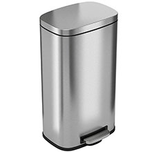 Step-On Trash Can w/ Plastic Inner Bin - 8 Gallon HLSS08R