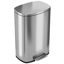 Step-On Trash Can w/ Plastic Inner Bin - 13.2 Gallon HLSS13R