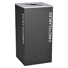 Kaleidoscope Collection 36 Gallon Square Receptacles
