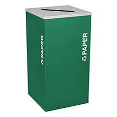 Kaleidoscope Collection 24 Gallon Square Receptacles