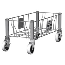 Slim Jim Rectangular Trash Can Stainless Steel Wire Frame Dolly