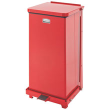 Defenders Square Biohazard Step Can, Red Steel - 12 Gallon