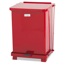 Defenders Biohazard Step-On Trash Can - Red - 7 Gallon