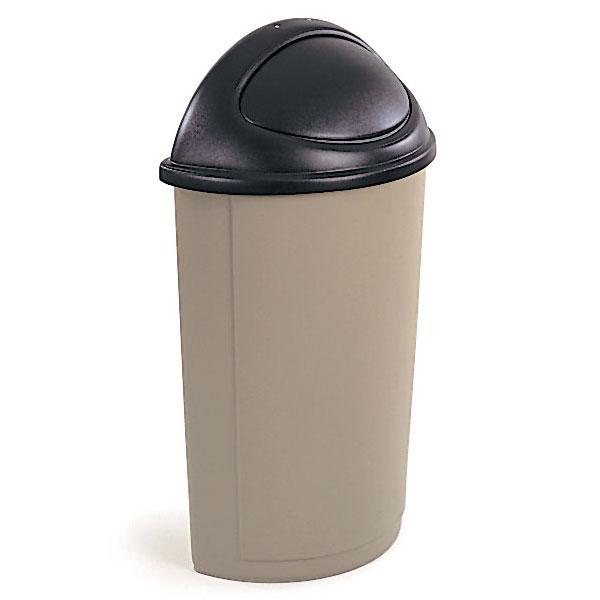 Untouchable Half Round Trash Container Lid W Swing Door