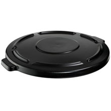 Brute Round Trash Can Self Draining Lid - 44 Gallon - Black